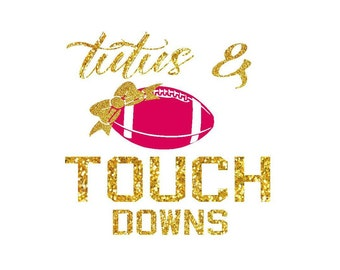 tutus and touch downs iron on design football iron on decal glitter iron on letters custom iron on girls iron on for shirt