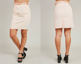 SALE! 90s 365 Permanent Vacation Pastel Pink Skater Skirt • XS