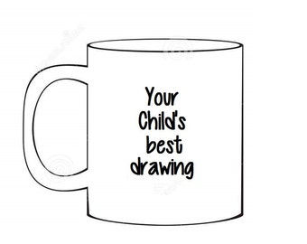 Custom made children's drawing mug