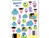Monsters Inc Stickers - Disney Planner Stickers