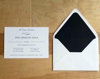 Black and White Corporate Gala Invitation, Corporate Event, Corporate Invites, Formal Invitation