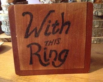 RING BOX- Spanish cedar Cigar Box - Woodburned
