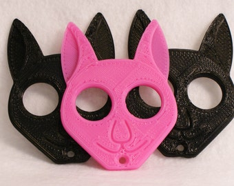BadCat keychain (3D Printed ECO Friendly PLA Biodegradable) free shipping
