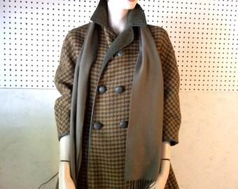 Vintage/ 60's /wool/ herringbone/ women's coat.