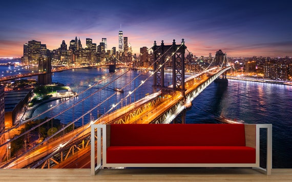 New York City Wall Mural by StickyStore