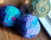 SALE Colors selected at random. Large catnip needle felted ball. Made from 100% wool. Toy. Paw. Feline. Crazy cat lady. Play. Pet. Meow