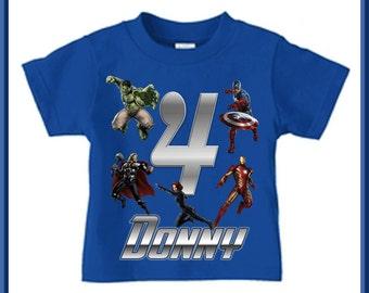 Avengers Birthday Shirt