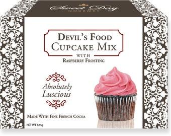 Devil's Food Cupcake Mix w/Raspberry Frosting