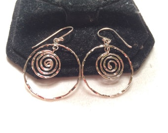 925 sterling silver hood earrings