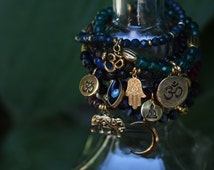 Indian Summer Collection | Boho Jewelry | Natural Stone | Jade | Cats Eye | Buddha | Ohm | Evil Eye | Universal by Nature
