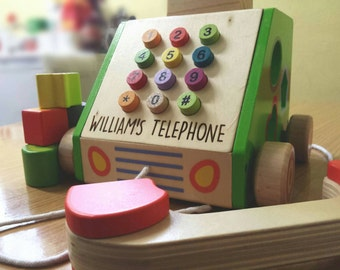 Pull Along Phone, Shape Sorter Activity Toy - (00051)