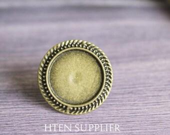 20pcs Brass Antique Bronze Adjustable Ring Blank  20mm Round Ring Base Setting, Ring blanks,20mm Ring blanks, Ring Base