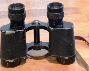 Vintage Tiger Binoculars Made in Occupied Japan 8 X 30 Used Condition     00911