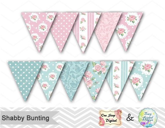 shabby chic bunting - photo #13