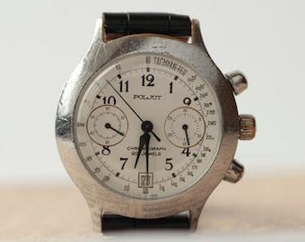 Poljot 3133 Classic Standard Russian Chronograph Watch USSR /Serviced