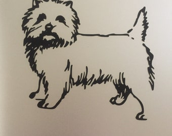 Cairn Terrier Decal for Car or Laptop