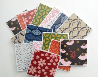 Japanese pattern mini thank you cards, gift cards, mini cards, card set, washi paper cards, japanese cards, note cards, shop cards