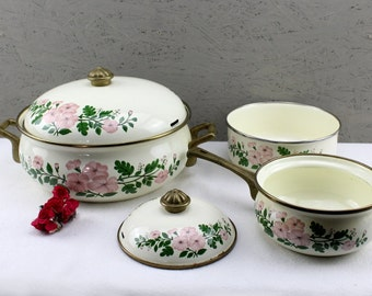 High quality 4 -piece enamel pot Set