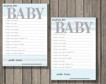 Wishes for baby printable, baby shower printable, baby boy printable, wishes for baby.