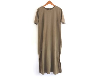 Taupe Linen Dress