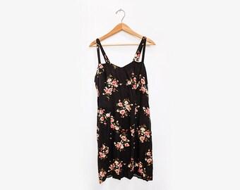 Floral Strap Swing Dress 90's M