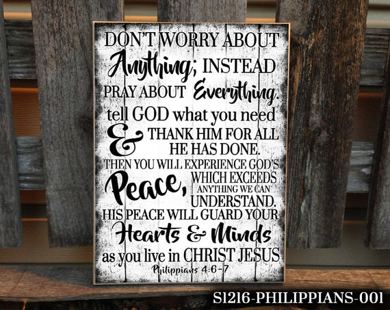 12x16 philippians home decor christian home decor bible for Religious decorations for home