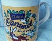 Vintage  Cadbury's Caramel Bunny Rabbit Coffee Mug, Kilncraft, Staffordshire, England