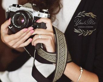 Hand-made camera strap Graphite