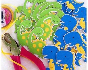12 x Dinosaur Favour Tags - Birthday, Favor Tags, Lolly Bag tags