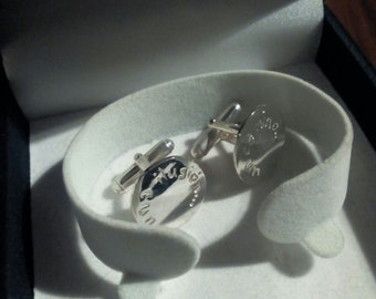 custom silver cufflinks