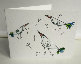 Beaky Birdies Christmas cards set of 5