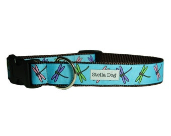 Teal Firefly Dog Collar