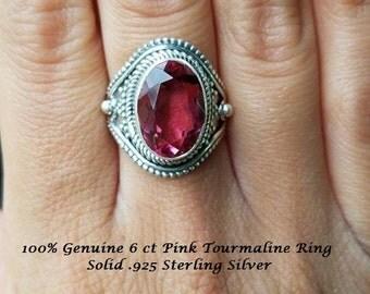 6 ct Pink Tourmaline Ring