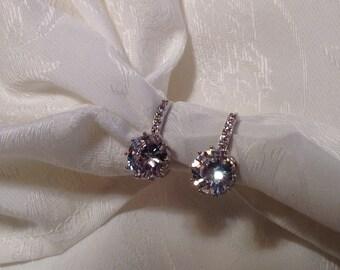 Swarovski Crystal Rhinestone Earrings~Bridal Jewelry~Prom~Special Occasion