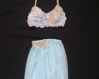Blue lyrical dance costume