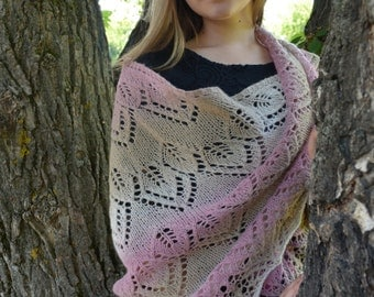 big knitting shawl, Shawl for wedding, knitted shawl, bridal shawl,  wool shawl, knit shawl, white shawl, knitting fichu, hand knit shawl