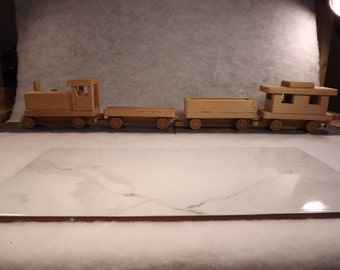Childs wooden train babys room- childs room - raw wood project