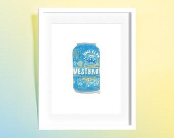 Custom Watercolor Beer Illustration