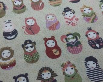 Patchwork fabric - Matrioshkas Carnival