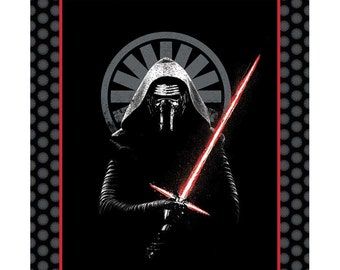 Star Wars fabric The Force Awakens / Darth Vader Fabric Panel Black 7360029 / Star Wars III Collection Star Wars Quilt Panel Camelot Fabrics