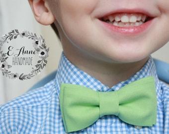 Boys Bow Tie Baby Bow Tie Green Bow Tie Spring Bow Tie