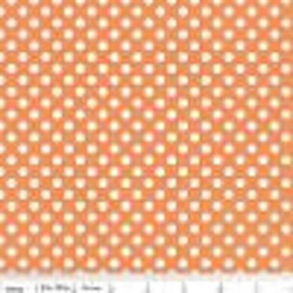 Riley Blake Basics Small Dot Orange C350-60 BTY