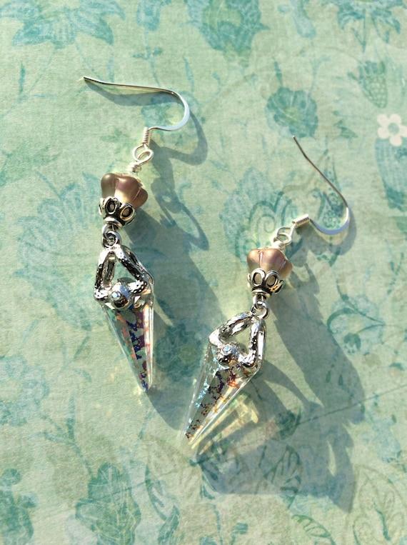 Crystal Daggers...Swarovski Daggers, Wedding, Feminine, Bling, Sparkle, Iridescent, Bridal, Elegant, Glamour, JustSlightlyVintage