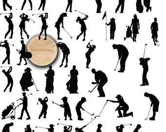 Golf Silhouettes, Golf ClipArt, Sports Silhouette, Sports Clipart, Golfer silhouette, golf kids Golf player PNG SVG eps dxf Buy 2 Get 1 FREE