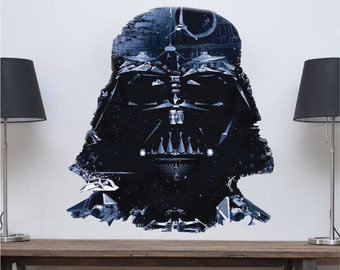 Star Wars Decal, Darth Vader Decal, Vader Wall Decal Vader Wall Mural, Star Wars Wall Mural, Star Wars Wall Design, Vader Wall Graphic, a86
