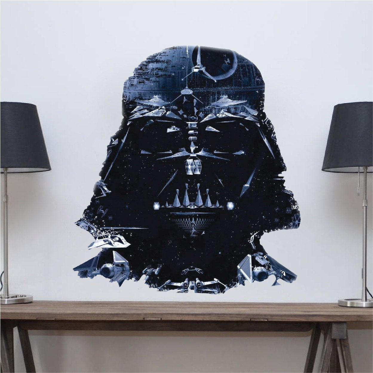 Star wars decal darth vader decal vader wall decal vader for Death star wall mural