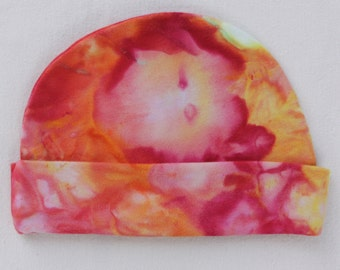 Tie Dye Organic Cotton Baby Hat