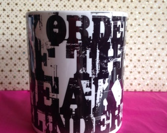 Peaky Blinders (By Order Of) tea/coffe Cup Mug