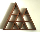 ON SALE! Our Largest Rustic Geometric Mountain Shelf