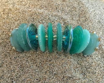 5 pairs-10 Lampwork Disc Beads  SRA Choose Color